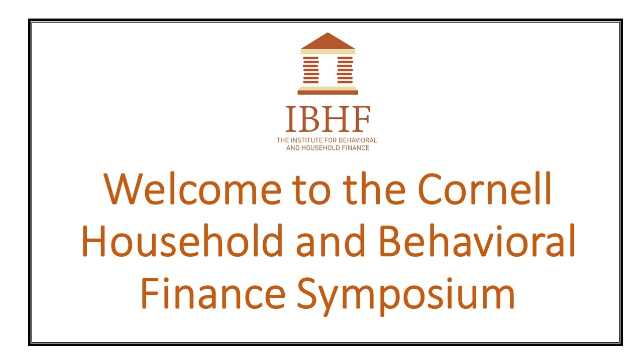 The institute for behavioral and household finance the single session format featured 7 paper presentations magicingreecefo Gallery